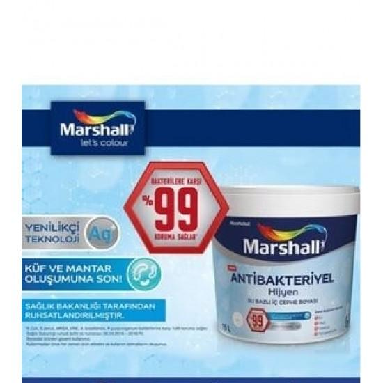 2,5 Lt Marshall Antibakteriyel Hijyen İç Cephe Boyası (silinebilir)