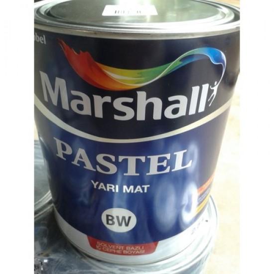 0,75 Lt Marshall Pastel Yarımat Yağlı Boya (Solvent Bazlı Boya)